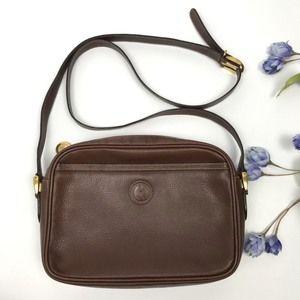 Vintage Gucci GG Leather Crossbody Shoulder Bag